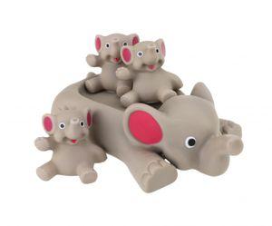 Toi-Toys badespielzeug Elefanten 4-teilig grau/rosa