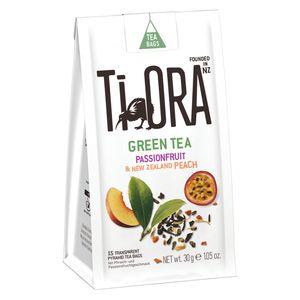 Ti Ora Tee, Grüner Tee mit Passionsfrucht und Pfirsich, 15 Beutel