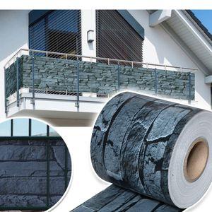 VINGO 65mx19cm Sichtschutzstreifen Zaunblende Folie PVC Streifen Sonnenschutz Sichtschutzstreifen fuer doppelstabmatten