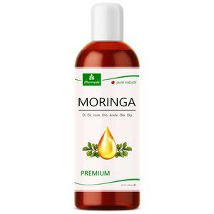 MoriVeda® - Moringa Öl Premium 100ml, kalt gepresst aus Qualitätssamen. 100% Oleifera Qualität. Hautpflege, Haarpflege, Wundpflege, Anti-Aging, Speiseöl, Behenöl