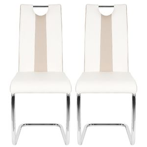 2er-set Esszimmerstühle    Freischwinger Stühle Bow Esstischstuhl Küche Küchenstuhl Barstuhl - Hochlehner Sitzgruppe   Kunstleder