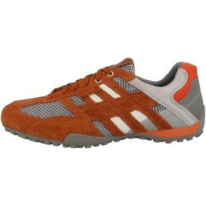 Geox Herren Sneaker Sneaker Low Leder-/Textilkombination orange 44