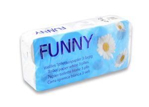 Toilettenpapier 3-lag.8RL weiß