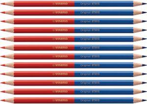 Premium-Buntstift - STABILO Original - 12er Pack - zweifarbig, rot & blau
