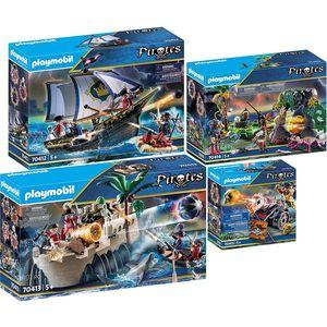 PLAYMOBIL 70412-13-14-15 Pirates 4er Set Rotrockse