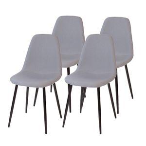 Esszimmerstühle BARI, 4-er SET, Grau