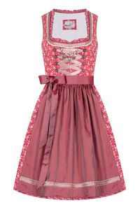 MarJo Mini Dirndl 60cm rot rosa gemustert Grada 008431 Größe: 38