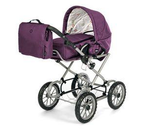 BRIO Puppenwagen Combi Lila mit Wickeltasche