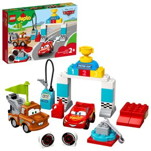 LEGO 10924 DUPLO Cars Lightning McQueens großes Rennen, Disney Pixar Cars Spielzeugautos, Spielzeug ab 2 Jahre, Motorikspielzeug