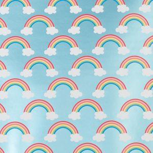 Geschenkpapier Regenbogen / Wolke 70cm x 2m, Rolle