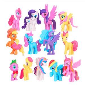 13pcs 5-8 cm einhorn Regenbogen pferd mein niedliches pvc kleines pony pferd action spielzeugfiguren puppen für mädchen geburtstag weihnachtsgeschenk
