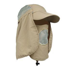 UV Schutz Kappe Sonnenhut 360° Sonnenschutz für Frauen Männer Jagd Camping Angeln Wandern Radfahren