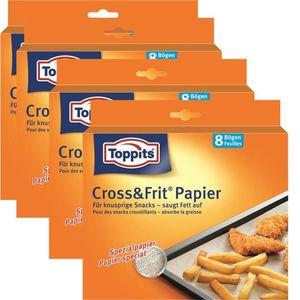 Toppits® Cross & Frit Papier Back-Spezialpapier Snackpapier 8 Bögen ( 4er Pack