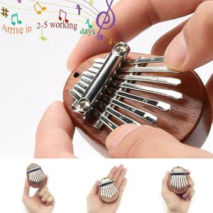 8 Tasten Mini Daumenklavier Kalimba Mahagoni Daumen Thumb Piano Eingebauter Kreativspielzeug