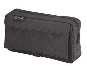 Herlitz Stifte Tasche mit Netztasche aus Polyester schwarz