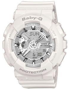 Casio Baby-G silber Damen Armbanduhr 100M Datum Shock-resistant BA-110-7A3ER