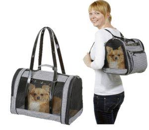 Hunde Tragetasche Pepita Bag - 42 x 24 x 30 cm - schwarz