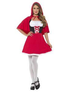 Damen Kostüm Rotkäppchen rot Märchen Karneval Fasching Gr. XS
