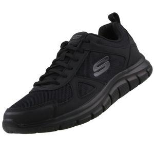 Skechers Track Herren Low Sneaker Schwarz Schuhe, Größe:43