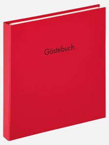 Walther, GB-206-R,Gästebuch Fun, 26x25 cm, rot