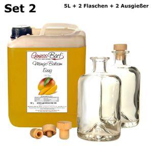 Exotischer Mango Balsam Essig 5L inkl. 2 Flaschen u. 2 Ausgießer vollfruchtig & sehr mild