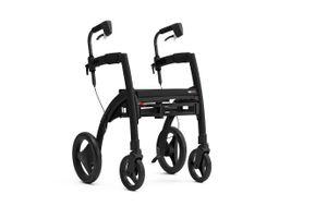 Saljol Rollz Motion² Rollator Rollstuhl, 2in1 Transportrollstuhl mit Fußstützen, bis 125kg belastbar