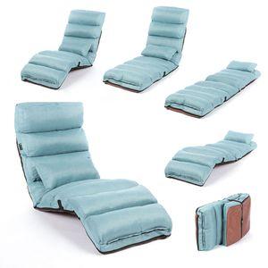 Smarte Relaxliege - Couch, Sessel & Gästebett - Klappmatratze, flexibel klappbare Liege & Gästebett - Blau