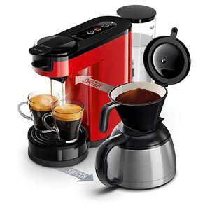 Philips HD6592 / 81 Kaffeemaschine SENSEO Switch 2 in 1 Rot (Kaffeepadmaschine + Filterkaffeemaschine)