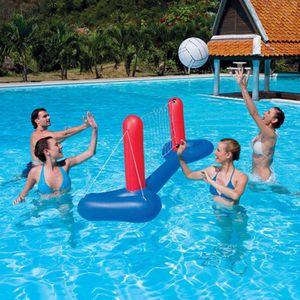 Bestway Pool Wasserball Volleyball Set aufblasbar inkl. Netz und Ball 244cm Neu