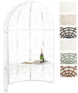 CLP Halbpavillon Rosie mit Sitzbank, Farbe:weiß