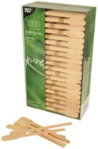 "PAPSTAR Rührstäbchen ""pure"" Länge 130 mm aus Holz 1.000 Stück"
