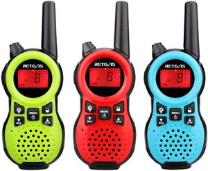 Retevis RT638 Walkie Talkie Kinder, 3er Spielzeug Kinder Funkgeräte, Beste Weihnachtsgeschenk für Kinder Jungen Mädchen, PMR446 Lizenzfrei 16 Kanäle VOX Taschenlampe