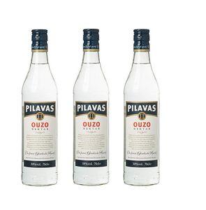 3x Ouzo Pilavas Nektar (700ml / 38%) - Der milde Ouzo aus Pilavas