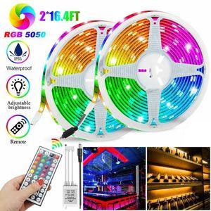 10M 3528 SMD RGB 600 LED-Lichtband + 44-Tasten-IR-Fernbedienung