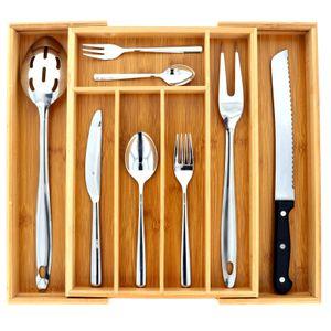 Großer Schubladeneinsatz Bambus Besteckkasten Besteck Kasten Besteckeinsatz