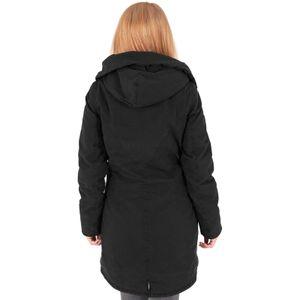 Urban Classics - Ladies Garment Washed Long Parka TB1088 black Damen Jacke Herbst Winter Größe XL