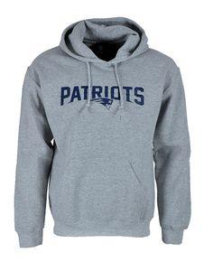 NFL Football Hoodie Kapuzenpullover New England Patriots Sweatshirt grau Gr. M