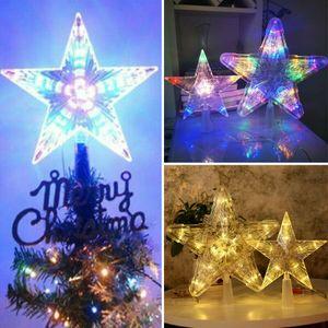 Tannenbaumspitze LED Weihnachtsbaumspitze Lampe Stern für Weihnachtsbaumspitze Christbaumspitze Licht - #1 Farbeful 30lights