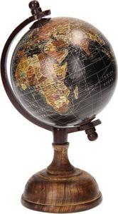 Gifts Amsterdam globus auf Fuß 25 x 12 cm Holz schwarz/braun