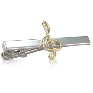 Krawattenklammer / Krawattennadel LINDENMANN, Notenschlüssel, 979