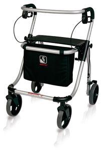 FabaCare Rollator Polo plus T, Leichtgewichtrollator  Germany, Gehwagen, höhenverstellbar, faltbar, bis 120 kg, Größe L