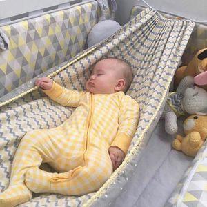 Baby Hängematte für Kinderbett Babywiege Babyhängematte Hängekorb Babyschaukel Baby Hang Bett - Gelb