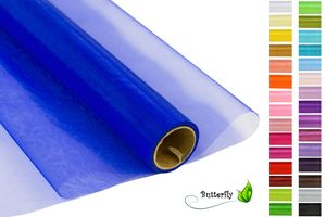 9m Rolle Organza 16cm CRYSTAL, Farbauswahl:blau 352 / königsblau / royalblau
