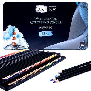 Artina Aquarell Buntstifte Set Aquarilo, Setgröße:72