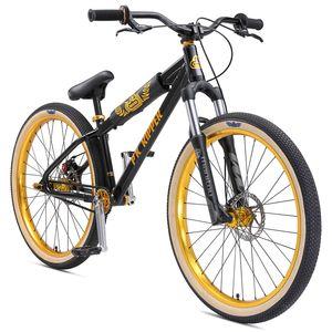 SE Bikes DJ Ripper HD 2020 26 Zoll BMX Rad Fahrrad BMX Cruiser Bike Oldschool Dirt Jump, Farbe:schwarz, Rahmengröße:33 cm
