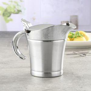 Thermo Sauciere - Edelstahl - doppelwandig - Einhandautomatik - 0,4 Liter