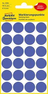 AVERY Zweckform Markierungspunkte ablösbar 18 mm blau 96 Stück