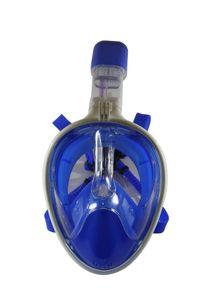 Schnorchelmaske Vollmaske Tauchmaske Vollgesichtsmaske Taucherbrille blau
