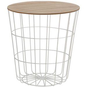 Multifunktionskorb - Sitz, 2in1 Tisch, Farbe:weiß