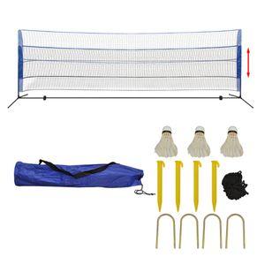 vidaXL Badmintonnetz-Set mit Federbällen 500 x 155 cm